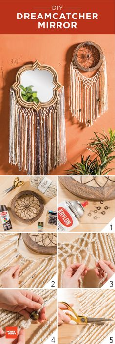 This dream catcher DIY is definitely on our weekend to-do list! Diy Projects Videos, Craft Projects, Decor Crafts, Diy Crafts, Wood Crafts, Yarn Bee, Creative Textiles, Beaded Jewelry Designs, Arts And Crafts