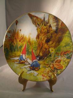 "Rien Poortvliet Gnome Plate Four Seasons Autumn ""Gnome Made"" #FairmountPorcelain"