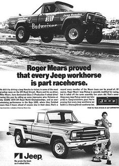 1980 Roger Mears / Jeep Truck Ad