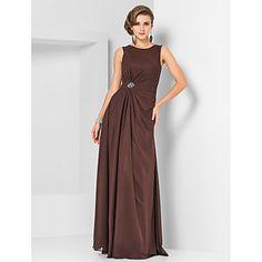 Sheath/Column Jewel Floor-length Chiffon Evening Dress – USD $ 129.99 would love this in royal blue @jennifer alvarez