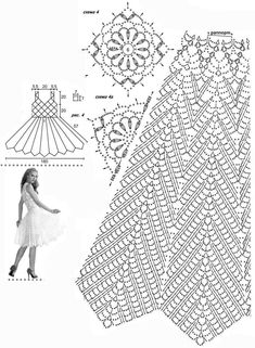 molde de vestidos de croche rodado