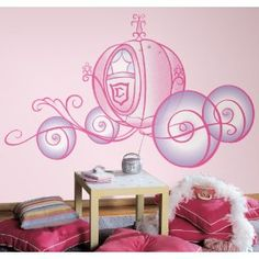 RoomMates RMK1522SLM Disney Princess Carriage Peel & Stick Giant Wall Decal