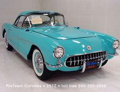 1956 Cascade Green Corvette - 143 units..Re-pin....Brought to you by Agents of #CarInsurance at #HouseofinsuranceEugene