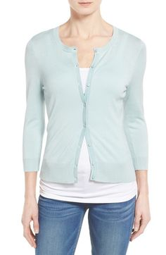 In black  - probably need an XL Halogen® Three Quarter Sleeve Cardigan (Regular & Petite) available at #Nordstrom