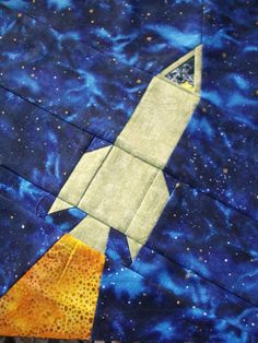 paper pieced quilt patterns | Handicrafty Sisters: Outer Space Quilt