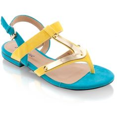 Sandały PFA20 Aqua/Yellow