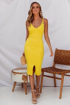 a47dd69228da1 8 Best canary yellow dress images | Yellow, Yellow dress, Couture