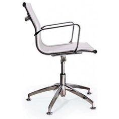 De designstoel Imola is voorzien van chromen elementen en een mooie zwarte of witte netstoffering. Dit maakt de Imola tot een ware blikvanger in uw vergaderruimte en/of kantoor. Doordat de stoel uitgerust kan worden met vloerdoppen of wielen, is de Imola zeer geschikt voor bijvoorbeeld op kantoor of een vergaderruimte.