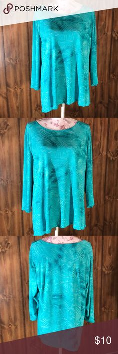 Pretty Blue Blouse Pretty Stretchy  Soft Like New Smoke free home Pet free home Size XL JM Collection Tops Blouses