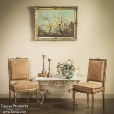 Antique Store Online ~ Belle Brocante ~ Antique Furniture  | 19th Century French Neoclassical Walnut Chair | www.inessa.com