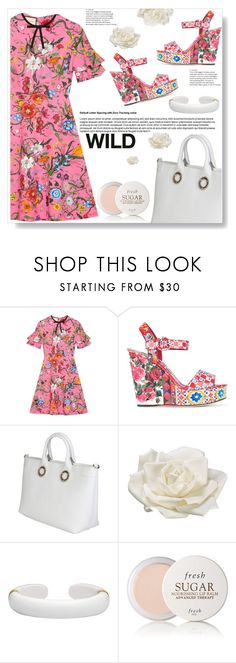 """""""Prints,Patterns or Stripes"""" by ucetmal-1 ❤ liked on Polyvore featuring Gucci, Dolce&Gabbana, Versace, Allstate Floral, Margot McKinney, Fresh, dress and prints"""