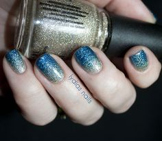 (via Lydia's Nails: China Glaze Glitter Gradient)