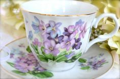 Bone China Tea Cup and Saucer by LaBellaVintage