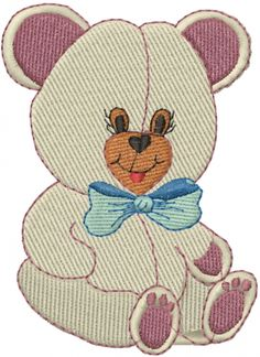 Teddy Bear embroidery design  AnnTheGran.com