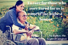 To care for those who once cared fo us is one of the highest honors.#mom #dad #healthcare #love #aspireutah