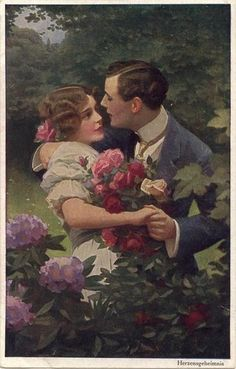 Vintage couples and lovers Romance Arte, Lovers Romance, Vintage Romance, Vintage Art, Romantic Paintings, Vintage Couples, Art Of Love, Romance And Love, Victorian Art