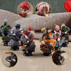 6pcs/set ,1:60, 9 cm Naruto anime cartoon action figure figurines toy doll kid #Unbranded