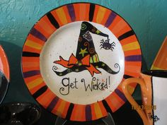 Get Wicked Plate / Paint your own Pottery / Painted at Kiln Creations.  www.kilncreations.net