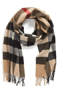Burberry Cashmere Scarf available at #Nordstrom