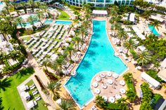 Fontainebleau Miami Beach's pools and beach lounges provide for the perfect day of relaxation here in Miami. Rent beach umbrellas and chairs to relax on the beach, or relax next to one of the world's most famous hotel pools here in Miami Beach. Best Vacation Spots, Best Vacations, Vacation Ideas, Miami Images, Miami Pool, Miami Beach Hotels, Florida Hotels, Cool Swimming Pools, Hotel Pool