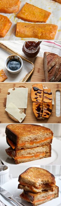 Roasted Sweet Potato, Fig & Balsamic Grilled Cheese