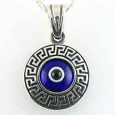 evil eye Greek Evil Eye, Evil Eye Jewelry, Ancient Greek, Blue And White, Colours, Eyes, Accessories, Greece, Costume