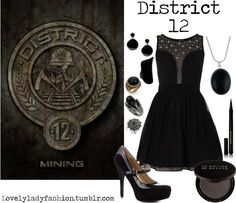 District 12 Inspired Prom look