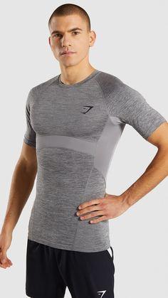 4a9231b6 Gymshark Element+ Baselayer T-Shirt - Smokey Grey Marl