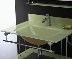 Xylem Yellow Glass Vanity Top and Integrated Rectangular Bowl GSTXXXYW. h1Xylem Yellow Glass Vanity Top and Integrated Rectangular Bowl GSTXXXYW_h1The Xylem Yellow Glass Vanity Top and Integrated Rectangular Bowl GSTXXXYW. Beautiful and sleek, Xylem glass vanity tops give a lasting impression.. . See More Vanity Tops at http://www.ourgreatshop.com/Vanity-Tops-C1112.aspx