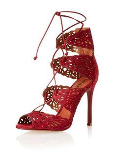 Schutz Women's Ciara Cut Out Sandal (Ruby)