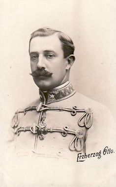 Archduke Otto of Austria-Hungary, father of Emperor Karl and grandfather of Crown Prince Archduke Otto.  His gaze here seems to betray what an odious person he was.  His offspring and descendants never speak of him.