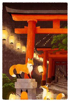 狐の提灯 Japanese Folklore!