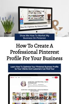 How to create a professional and optimized Pinterest profile for your business. Learn what to optimize so that your customers and clients will be able to find you when they are searching for solutions to their problems. Pinterest Marketing tips to increase website traffic , leads and sales. Set Up Email, Improve Yourself, Finding Yourself, Pinterest Marketing, Searching, Dawn, Online Business, Budgeting, Profile