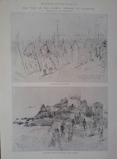 1898 PRINT VIEWS IN PALESTINE FROM HAIFA,CAESAREA,DAMASCUS,BAALBEK & BEIRUT
