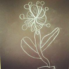 """Line Flower"" by MJF, age 5"