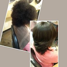 Silk Press on natural hair