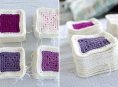 Modern Colorblocked Granny Square Baby Blanket