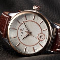 Women watch,Men watch, Automatic Watch, Luxury Watch, Steampunk Leather Mechanical Watch,Brown leather,Watches,Stainless Steel,Gold case Leather Watches, Brown Leather Watch, Men Watch, Mechanical Watch, Automatic Watch, Michael Kors Watch, Watches For Men, Steampunk, Stainless Steel