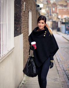 Black cape and gold