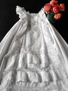 Vintage Victorian Christening Gown English by Vintagefrenchlinens, $150.00