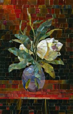 Pavel Martushev ~ Flowers in a Vase Mosaic