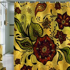 Love this fun and funky shower curtain.
