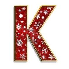 Snowflake letter K