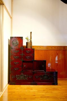 Wanted One Of These For The Longest Time! Japanese Step Tansu By Keyaki,  Japan