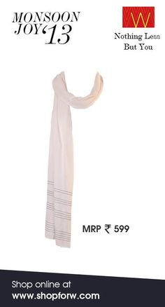 Nothing says #elegance like this off-white drape. Come and get it, ladies! What say? www.shopforw.com #style #fashion #drape #off-white #fashion #Indian #ethnic #wear #W for #woman