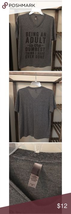 Thug Life :: Graphic V-Neck T-Shirt :: Gray Thug Life :: Graphic V-Neck T-Shirt :: Gray Thug Life Tops Tees - Short Sleeve