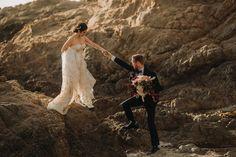 Beautiful Beach Elopement on the Coast of Big Sur California. Flora Gibson Photography Big Sur California wedding and elopement photographer