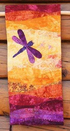 Dragonfly quilt by Beret Nelson from On the Trail Creations. Just Beautiful!