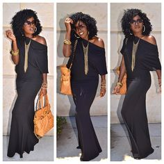 so me! the color (black is my fav with that leather purse omg!) the hair, glasses, earrings.....omg