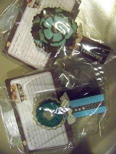 Jumbo clothes pin recipe holders